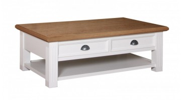 Salontafel Chic Oak met 2 laden